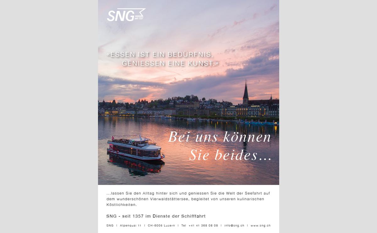 Inserat SNG Seefahrten