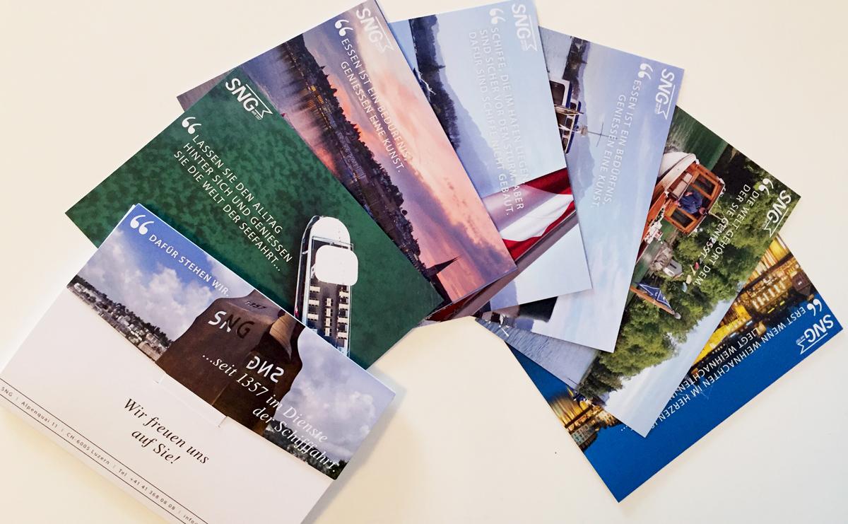 Postkarten-Set mit Umschlag für Mailing und Direktverkauf