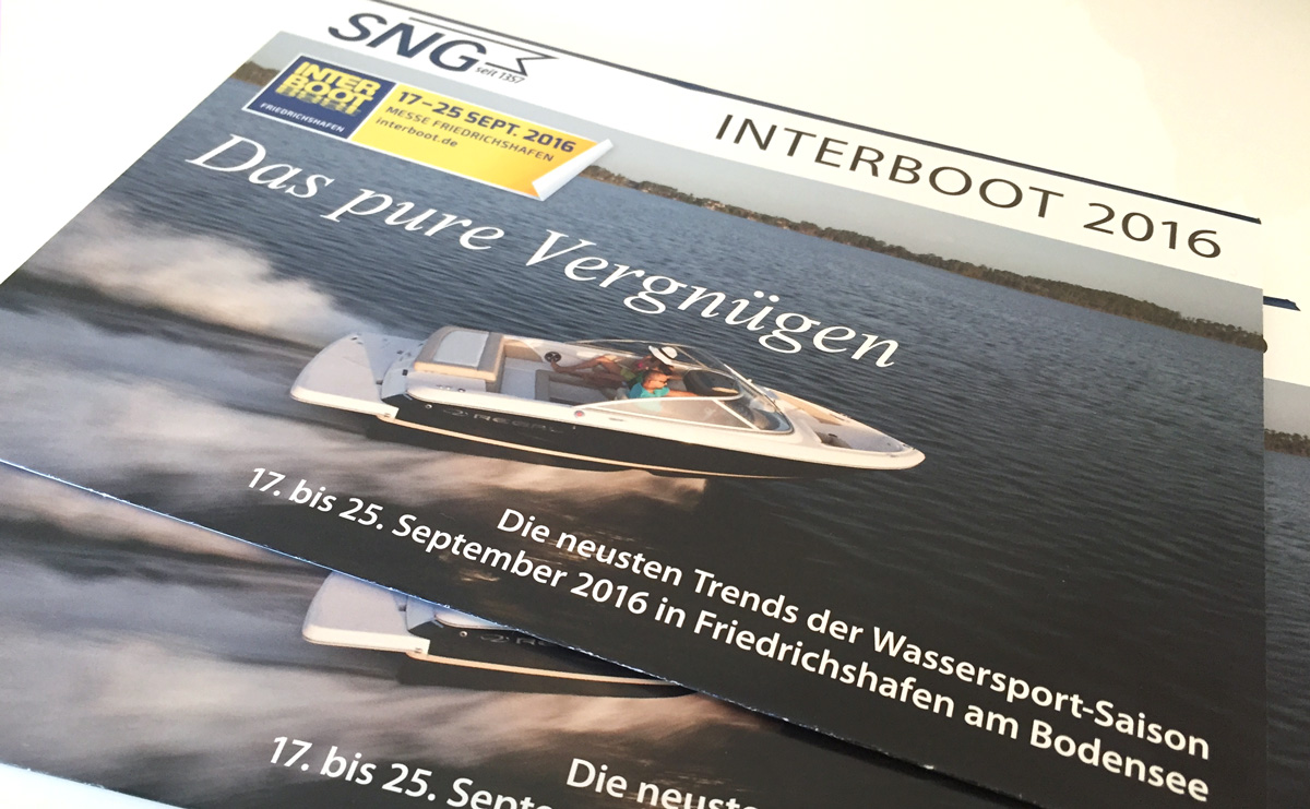 SNG Selfmailer INTERBOOT 2016