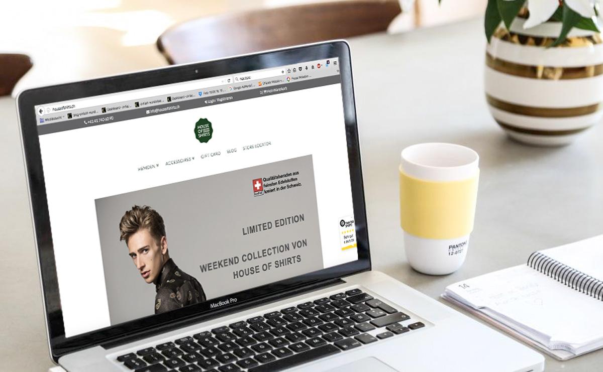 HOUSE OF SHIRTS Onlineshop - Aufbau, Usability, textliche Überarbeitung