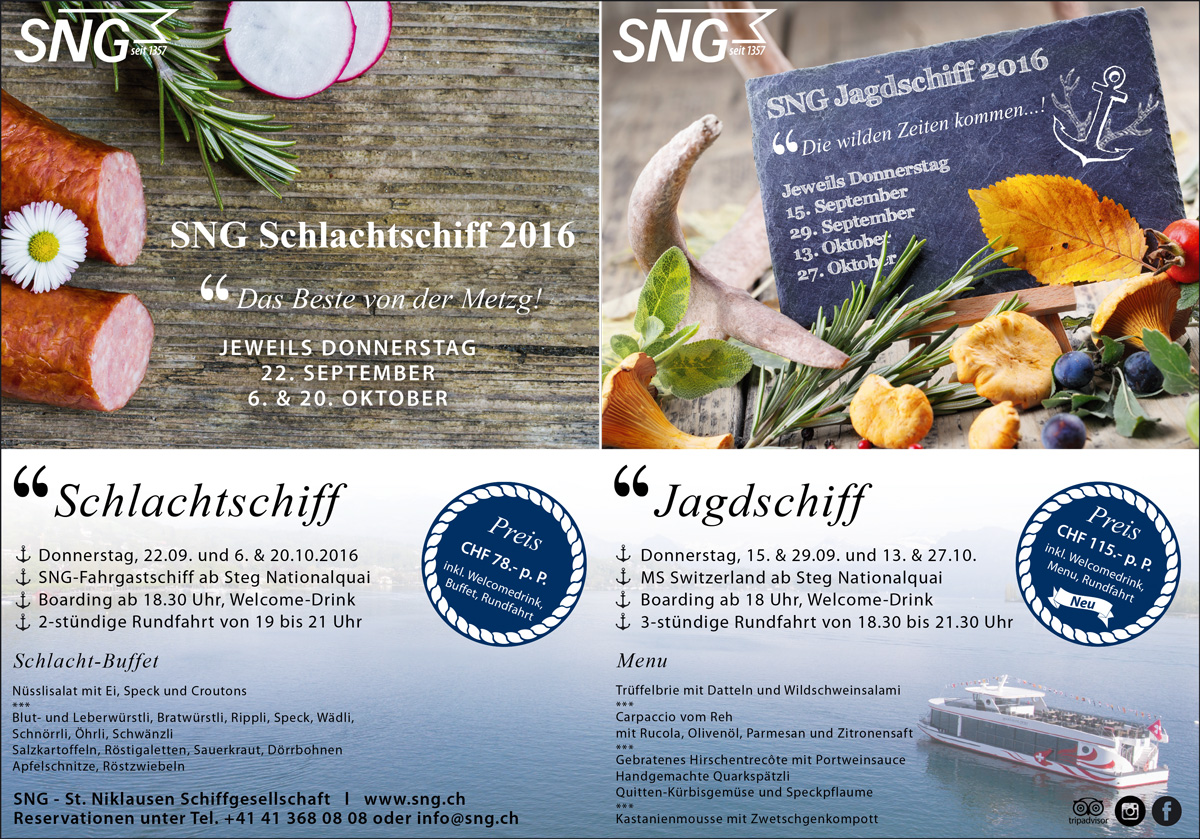 SNG Inseratekampagne Themenschiffe
